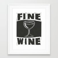 wine Framed Art Prints featuring Wine by Peter Dunne