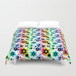 Rainbow Floral Abstract Flower Duvet Cover