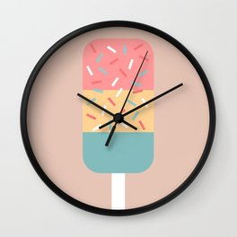 Popsicle (Peach) Wall Clock