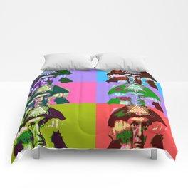 Aleister Crowley Pop Art Comforters