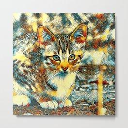 AnimalArt_Cat_20170921_by_JAMColorsSpecial Metal Print