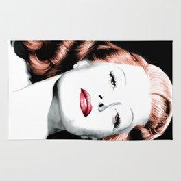 Rita Hayworth Large Size Portrait Rug