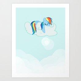 Rainbow Dash: Head in the Clouds Art Print