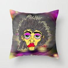 Space Face Throw Pillow