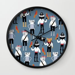 Pirate Cats Wall Clock