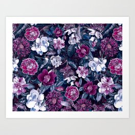 Floral Night Art Print