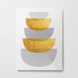 Abstract Golden Art XX Metal Print