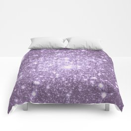 Lilac Galaxy Sparkle Stars Comforters