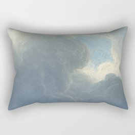 Dreamy Clouds Painted Sky Blue White Rectangular Pillow