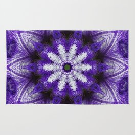Glowing Violet Star - Iris Stepping Out Kaleidoscope Rug