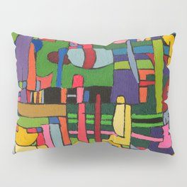Colors in Collision 3 - Geometric Abstract of Colors that Clash Pillow Sham