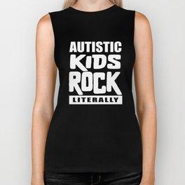 Autism Awareness Autistic Kids Rock Literally Biker Tank