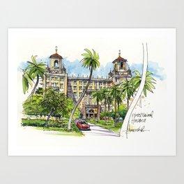 Hotel Nacional de Cuba, Havana Art Print