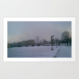 The City Snow Art Print