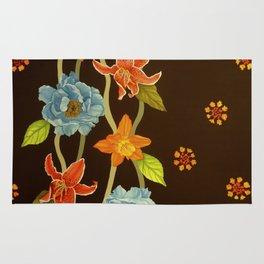 Vintage Flowery Serpentine Rug