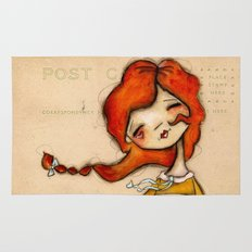 Yours truly - Vintage Postcard Inspired Artwork Rug