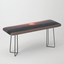 Really red sun Bench