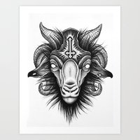 goat Art Prints featuring Goat by Alexander Kukinov