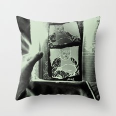 Tickling Buddha Throw Pillow