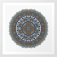 knit Art Prints featuring Knit Mandela by Tami Cudahy