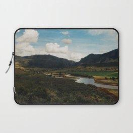 River Winds Through Colorado Valley Laptop Sleeve
