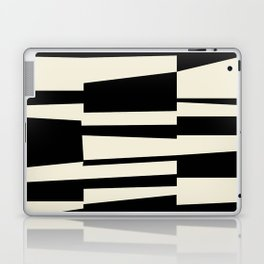 BW Oddities II - Black and White Mid Century Modern Geometric Abstract Laptop & iPad Skin
