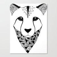 cheetah Canvas Prints featuring Cheetah by Art & Be