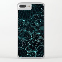 Geometric Abstract Pattern Clear iPhone Case