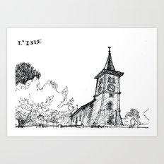 The church of sorrow: L'Isle Art Print
