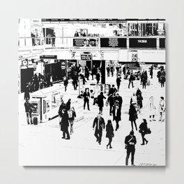 London Commuter Art Metal Print