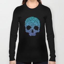 Labyrinthine Skull - Neon Long Sleeve T-shirt