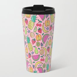 fruit on pink Travel Mug
