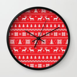 Sweater with deer Wall Clock