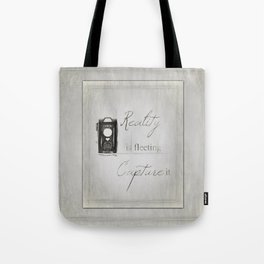 Reality is Fleeting ~ Sketched Camera ~ Ginkelmier Inspired Tote Bag
