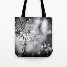 Grunge Film Noir Dried Plants Nature Image Tote Bag