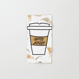 Coffee addict stain Hand & Bath Towel