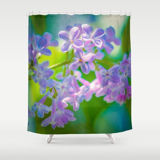 Purple Lilac Flowers Shower Curtain By Digital2real