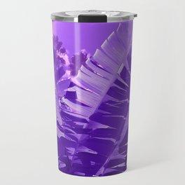 Ultra Violet Tropical Beach Palm Travel Mug