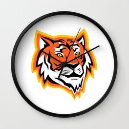 Bengal Tiger Head Mascot Wall Clock