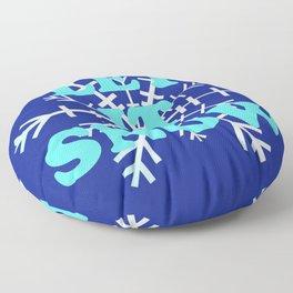 Let It Snow classic winter snowflake pattern Floor Pillow
