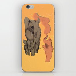 Walking with elephants iPhone Skin