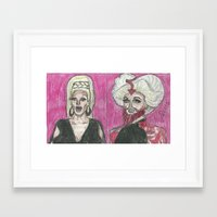 """rupaul Framed Art Prints featuring """"Wake Up Pearl!"""" by Vincenzo Dama"""