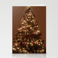 christmas tree Stationery Cards featuring Christmas tree. by Assiyam