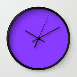 Simple Solid Color Aztech Purple All Over Print Wall Clock