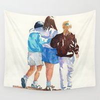 best friends Wall Tapestries featuring Best Friends by MadDog