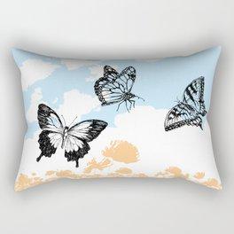 Butterflies print Rectangular Pillow