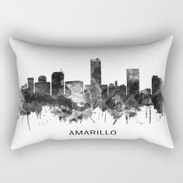 Amarillo Texas Skyline BW Rectangular Pillow