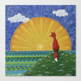 Fox in the Morning Canvas Print