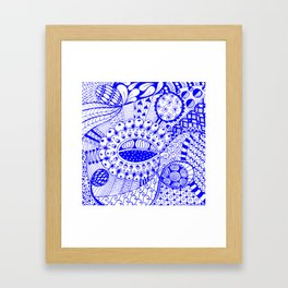 Leander Blue Framed Art Print