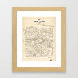 Map of Jack County, Texas (1879) Framed Art Print